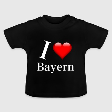 I LOVE Bayern white - Baby T-Shirt