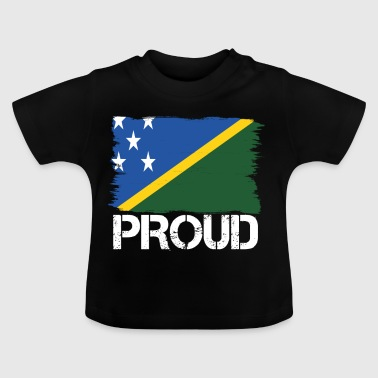 Pride flag flag home origin Salomon Islands p - Baby T-Shirt