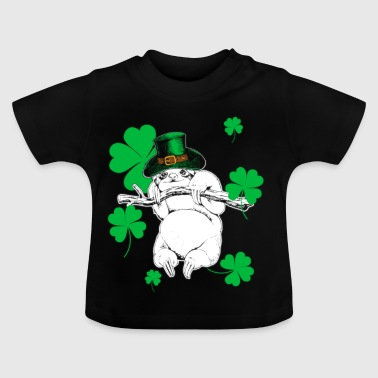Faultier Sloth St Patricks Day Geschenk - Baby T-Shirt