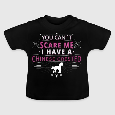 Chinese crested dog scare Chinese Crested - Baby T-Shirt