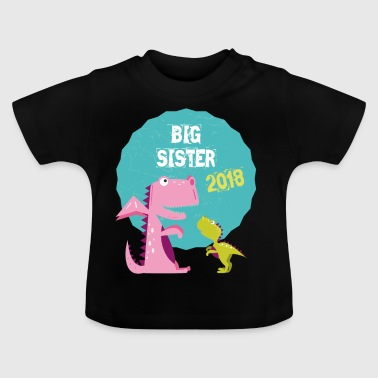 Big Sister Søsken Brother 2018 T-skjorte - Baby-T-skjorte