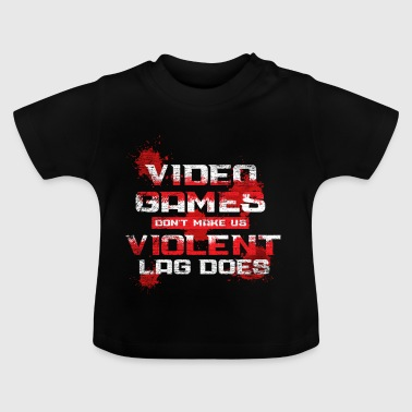 Video games do not make us violent vintage - Baby T-Shirt