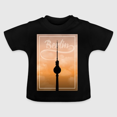 Silueta Berlin TV Tower Gift Holiday BLN - Camiseta bebé
