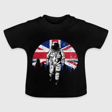 Astronaut Moon UK UK Flag - Baby T-Shirt