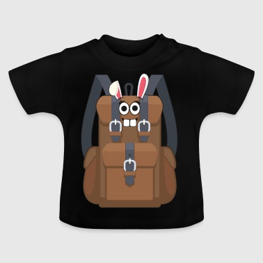 I love mountains hiking easter easter bunny gift - Baby T-Shirt