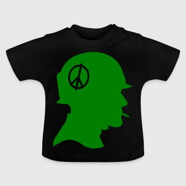 Soldier silhouette peace sign - Baby T-Shirt