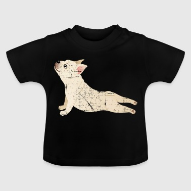 French Bulldog | Yoga Pose | Funny Illustration - Baby T-Shirt