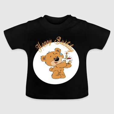 Petit ourson - Happy Birthday - T-shirt Bébé