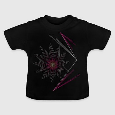 pink explosion explosion in pink, star fireworks - Baby T-Shirt