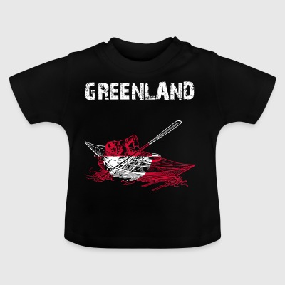 Nation-design Grønland Kajak DA - Baby T-shirt