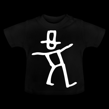 Dancing stick figure with hat - Baby T-Shirt
