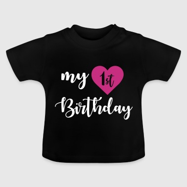 1st birthday - Camiseta bebé