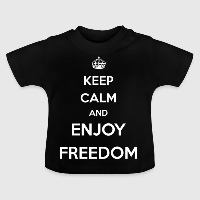 enjoy freedom / Freedom / USA / Business Bitcoin - Baby T-Shirt