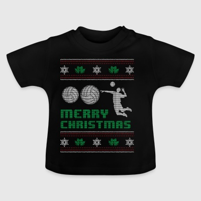 Funny Volleyball Player Shirt Glædelig jul - Baby T-shirt