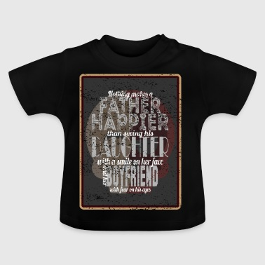 Happy father - daughter laughs - friend scared - Baby T-Shirt