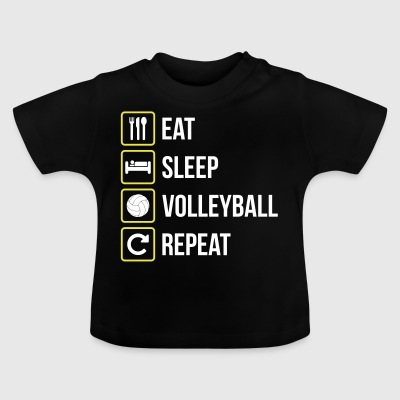 Eat Sleep Volleyboll Repeat - Baby-T-shirt