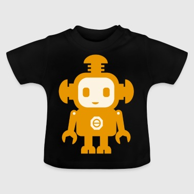 Robot (yellow) - Baby T-Shirt