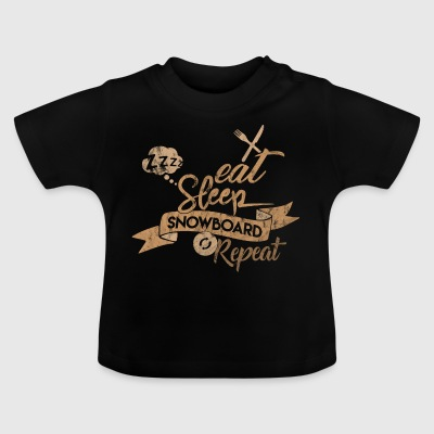 EET SLAAP SNOWBOARD REPEAT - Baby T-shirt