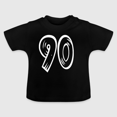 Number 90 Ninety Ninety wood optic HATRIK DESIGN - Baby T-Shirt