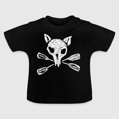 Gold ratten - wit - Baby T-shirt