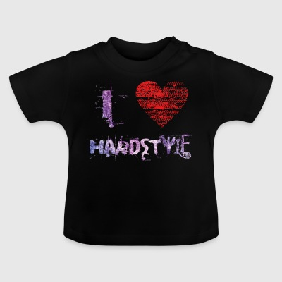 i love hardstyle techno Hardtech raver festival - Baby T-shirt