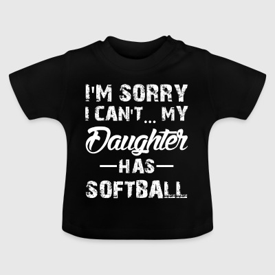 Softball Tochter - Baby T-Shirt