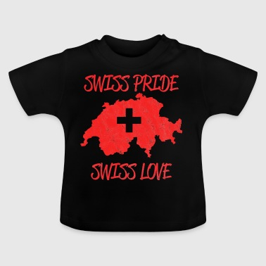 Swiss National Day - Used Look, Vintage - Baby T-Shirt