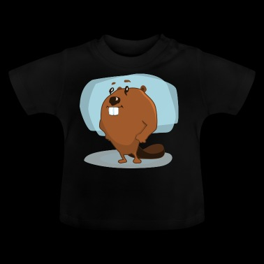 beaver biber rodent rodents wood water6 - Baby T-Shirt