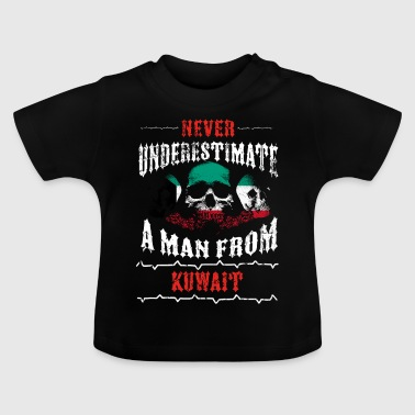 never underestimate man KUWAIT - Baby T-Shirt