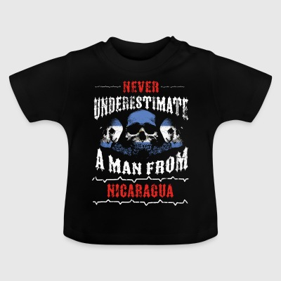never underestimate man NICARAGUA - Baby T-Shirt