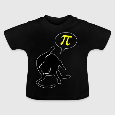 Cat licks butt and thinks of Pi math - Baby T-Shirt