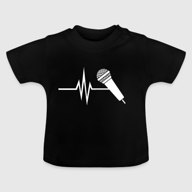Mit hjerte banker for Voice - Musik Singing Micro - Baby T-shirt