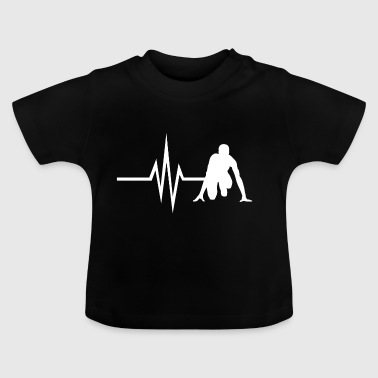My heart beats for Running - Sprint Jogging Fit - Baby T-Shirt