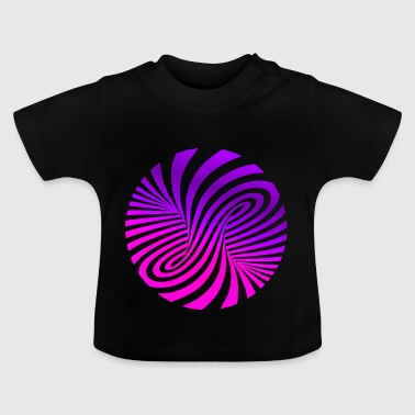 Psychedelic illusion Disco 60s tornado - Baby T-Shirt