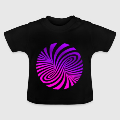 psychedelic illusion Disco 60er tornado - Baby T-Shirt