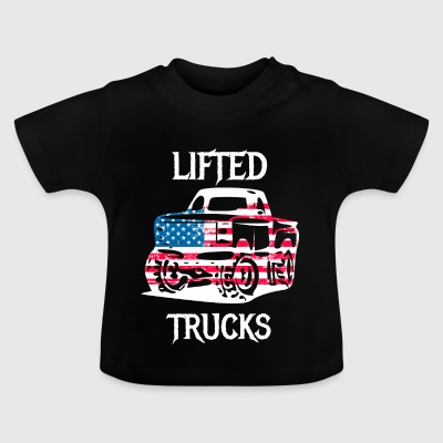 Lifted lastbilar trimmad offorad Jeep bilar - Baby-T-shirt