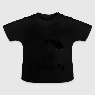 Evolution Skydiving - born to fly - Baby T-Shirt