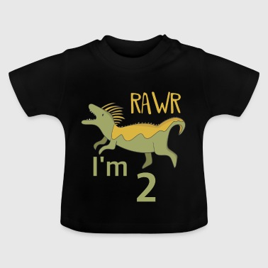 To the 2 birthday for boys girls Mosasaurus - Baby T-Shirt