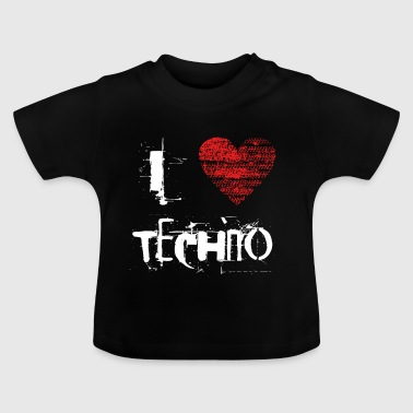 I Love Techno Goa favorables Hardtek duro - Camiseta bebé