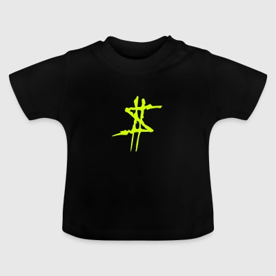 Dollar Sign Geel - Baby T-shirt