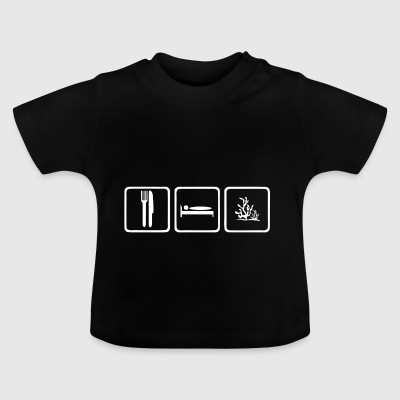 Eat Sleep koraller uden tekst - Baby T-shirt