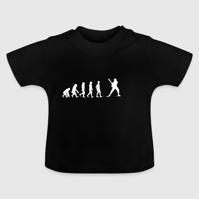 EVOLUTION baseball homerun base - Baby T-Shirt