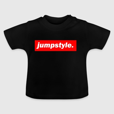 techno mixer red bass bpm jumpstyle - Baby T-Shirt
