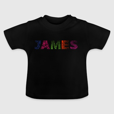 James Letter Naam - Baby T-shirt