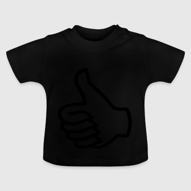 Thumbs up black - Baby T-Shirt