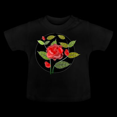 Rose Ornament - Baby T-Shirt