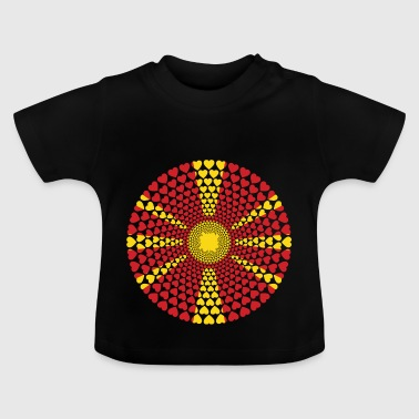 Macedonië Macedonië Love Heart Mandala - Baby T-shirt