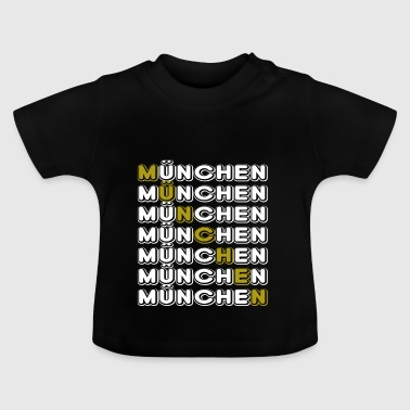 Munich Munich horizontal white - Baby T-Shirt