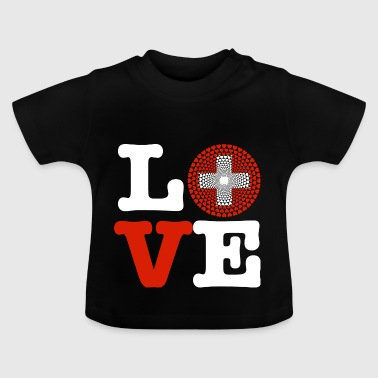 Switzerland heart - Baby T-Shirt
