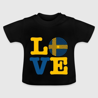 SWEDEN HEART - Baby T-Shirt
